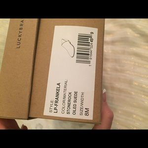 Almost new with box. Lucky brand booties.